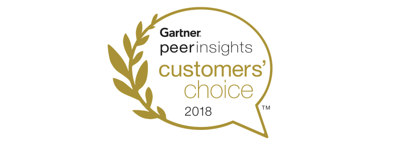 Gartner peer insights customers'choice 2018