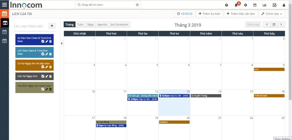 manage working calendar